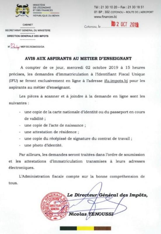 Demandes d 39 ifu en ligne pour les aspirants au metier de l - Immatriculation chambre des metiers ...